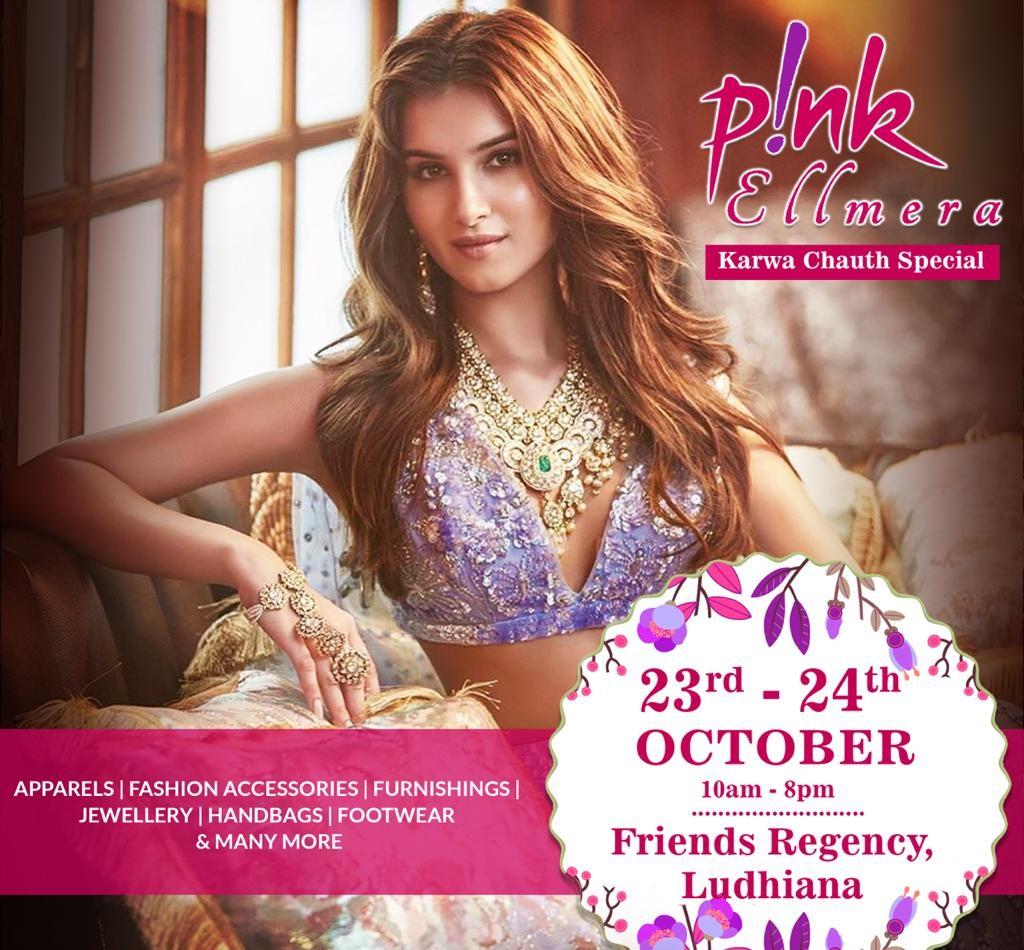 Pink Ellmera Karwa Chauth Special